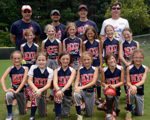2016 Thunder 1st Row: Smiley, Hannah M, Mia, Pop Up Queen, Dirt Girl, Money 2nd Row: Gabbie, Kiley, Morgan, Christina, Addie, Hannah H 3rd Row: Coach John, Coach Eric, Coach Luke, Head Coach Brad